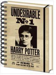 Harry Potter Blok A5 Harry Potter - 3D Sirius a Harry, kroužková vazba
