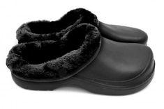 Dámske zateplené clogsy FLAMEshoes B-2002 čierne
