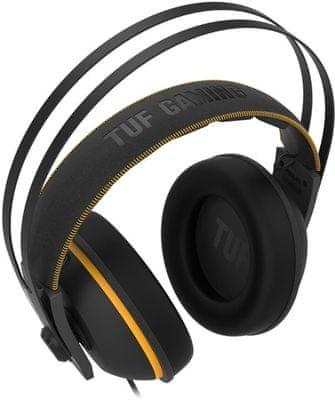 Asus TUF Gaming H7 Core, szczelna komora, metalowa obudowa, duże przetworniki, regulacja głośności, jakość dźwięku