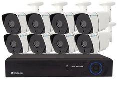 Securia Pro IP kamerový set 2MPx NVR8CHV2-W Nahrávanie: bez disku