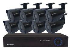 Securia Pro IP kamerový set 5MPx NVR8CHV5-B Nahrávanie: bez disku