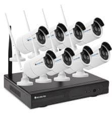 Securia Pro WiFi kamerový set 1.3MPx WIFI8CHV1-W Pevný disk: bez disku