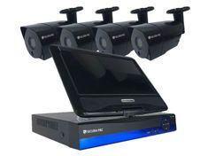 Securia Pro AHD set 1MPx LCD-AHD4CHV1-B