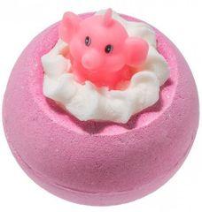Bomb Cosmetics Šumivá koupelová bomba Růžový slon a limonáda (Bath Blaster ø 7,5 cm) 140 g