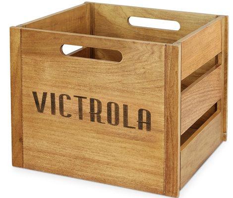 Dřevěná bedýnka na gramodesky victrola va-20
