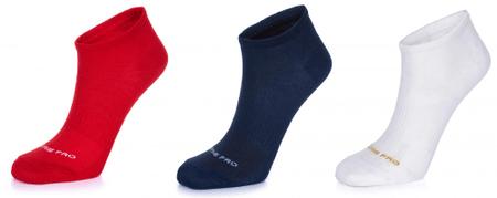 ALPINE PRO trojité balení unisex ponožek Naoko 35 - 38 vícebarevná
