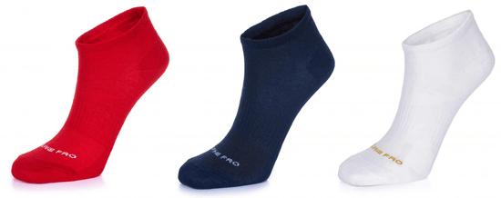 ALPINE PRO trojité balení unisex ponožek Naoko 39 - 42 vícebarevná