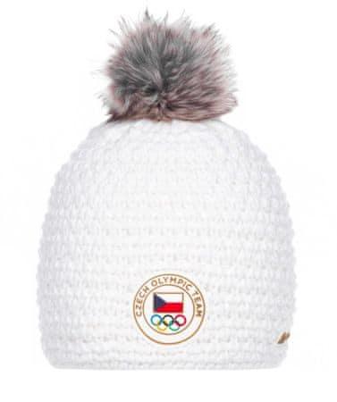 ALPINE PRO dámská pletená čepice Chibi S bílá