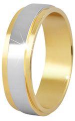 Beneto Moški dvobarvni poročni prstan iz jekla SPP05