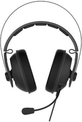 Kabelová sluchátka Asus TUF Gaming H7 Core měkké náušníky chladicí ocelová konstrukce pohodlné malý tlak