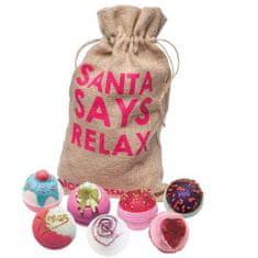 Bomb Cosmetics Zestaw upominkowy musująca kula Christmas relax Santa Says Relax (Gift pack) 7 x 160 g
