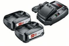 Bosch komplet baterij 2× PBA 18V 2,5 Ah + polnilec AL1830 (1600A011LD)