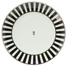 Goebel Chateaux Black & White Stripes Dezertní talíř