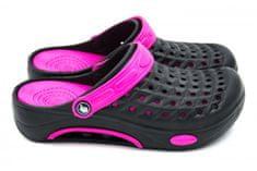 Dámske clogsy FLAMEshoes B-2006 čierna a fialová