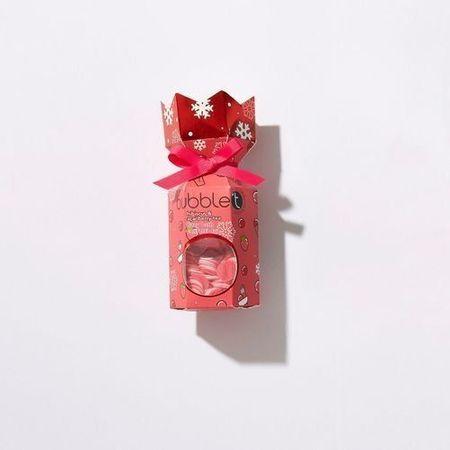 Bubble T Cosmetics Christmas crecker z musującą bombą do kąpieli i konfetti - Hibiscus (Fizzy Bath Confetti duo) 40 g