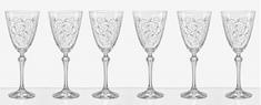 Crystalex Leaves kozarci za belo vino, 250 ml