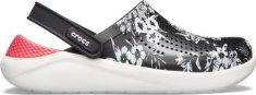 Crocs Dámske topánky Crocs LiteRide Hyper Floral Flat čierna / červená
