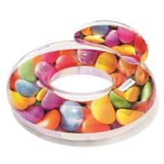 HMStudio Nafukovací kruh Candy s držadly 118x117 cm