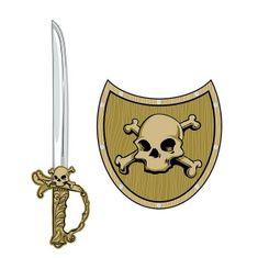 HMStudio Meč a štít Pirat lebka