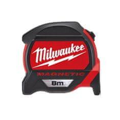 Milwaukee 12 x Meter, zvinovací PREMIUM MAGNETIC 8M/27MM