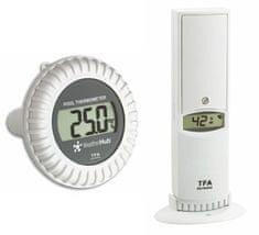 TFA 30.3310.02 WeatherHub vezeték nélküli hőmérséklet- és páratartalom-érzékelő medence-érzékelővel