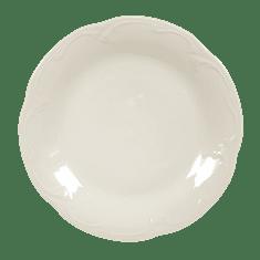 Seltmann Weiden Rubin Cream Uni Mělký talíř 25 cm, Königlich Tettau
