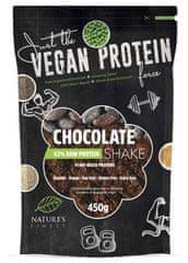 Nature's finest Bio Vegan Protein Shake mješavina, 63 % proteina, čokolada, 450 g