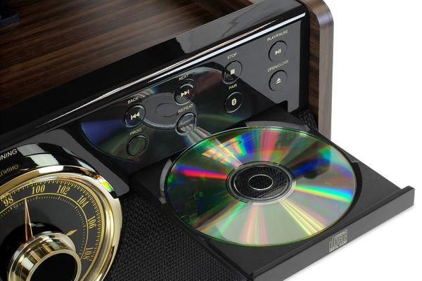 elegantní retro gramofon Victrola VTA-270 retro 3 rychlosti otáček 33 45 78  FM rádio CD kazetová mechanika bluetooth