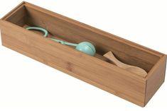 Compactor Bamboo úložný organizér Box XL - 30 x 7,5 x 6,5 cm