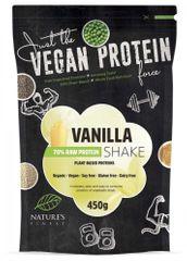 Nature's finest Bio Vegan Protein Shake mješavina, 70 % bjelančevina, vanilija, 450 g