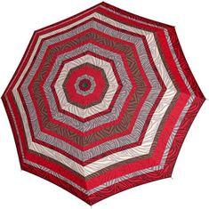 Doppler Składany parasol auto Hit Mini Automatic Class ic 7202165P paski czerwone