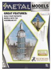 Teddies Stavebnice kov Big Ben hodiny 502 dílků v krabici 26x37x6cm