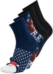 ONLY&SONS Sada pánskych ponožiek ONSNOEL X SOCK 4-PACK Dark Navy + P Red + Solid Black + Solid Black