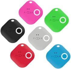 Fixed Smart tracker Smile s motion senzorem, 6-pack, černý, šedý, červený, modrý, zelený, růžový
