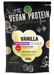 Nature's finest Bio Vegan Protein Shake mješavina, 70 % bjelančevina, sa stevijom, vanilija, 450 g