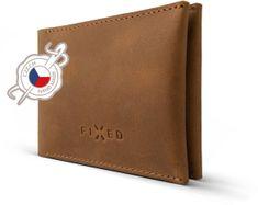 Fixed Kožená peňaženka Smile Wallet so smart trackerom Smile s motion senzorom, hnedá