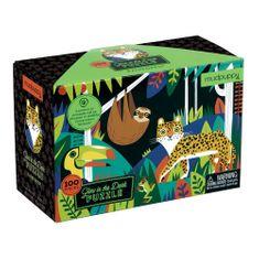 Mudpuppy Puzzle svietiace v tme Dažďový prales - zvieratká