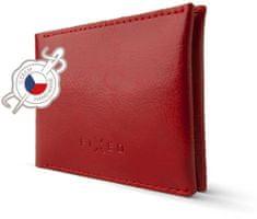 FIXED Kožená peňaženka Smile Wallet so smart trackerom Smile s motion senzorom, červená