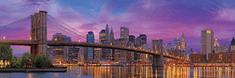 EuroGraphics Panoramatické puzzle Brooklynský most, New York 1000 dílků