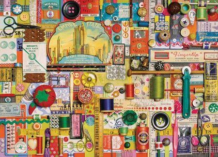 Cobble Hill Puzzle Šicí pomůcky 1000 dílků