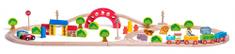 Woody Železnica z vlakom in živalmi
