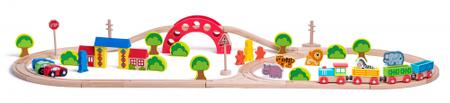 Woody kolejka Zoo z pociągiem i zwierzętami