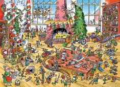 Cobble Hill Puzzle Doodle Town: Pracující skřítkové 1000 dílků
