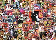 Cobble Hill Puzzle Kočičí zeď 1000 dílků