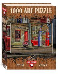 Art puzzle Dřevěné puzzle Čerpací stanice 1000 dílků