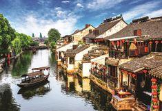 AnaTolian Puzzle Starobylé městečko Xitang 2000 dílků