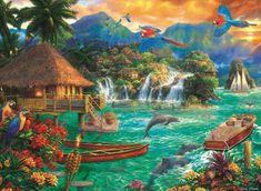 Trefl Puzzle Život na ostrově 3000 dílků
