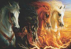 AnaTolian Puzzle Čtyři koně apokalypsy 2000 dílků