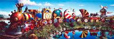 AnaTolian Panoramatické puzzle Vlak plný příběhů 1000 dílků