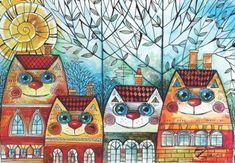 AnaTolian Puzzle Městské kočky 500 dílků